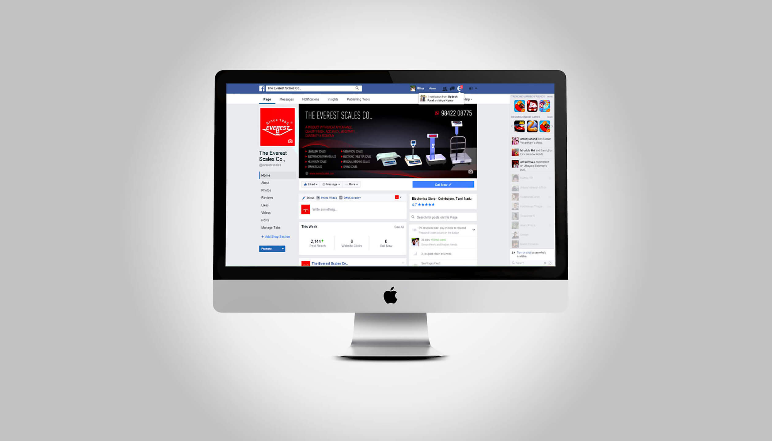 internet marketing desktop